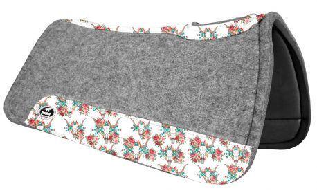 Manta de Tambor Rubber Quadrada Cabeça de Boi e Rosas