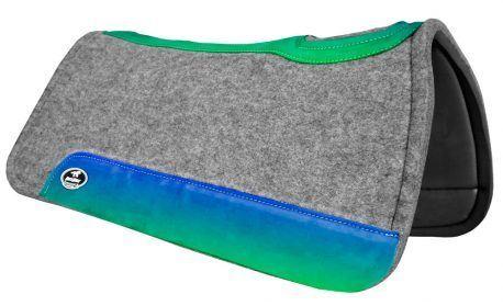 Manta de Tambor Rubber Quadrada Degrade Azul e Verde