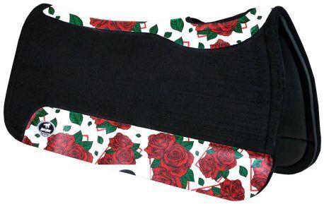 Manta de Tambor Rubber Quadrada Rosas Vermelhas