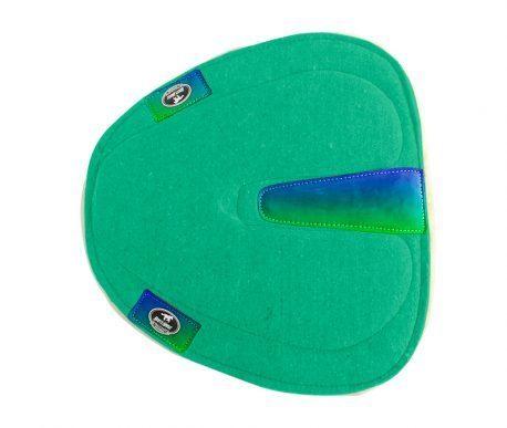 Manta Vaquejada Degrade Azul e Verde