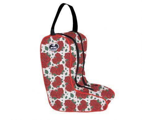 Porta Botas Boots Horse Rosas Vermelhas