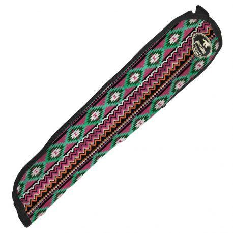 Protetor de Rabo para Viagem Boots HorseEtnico Preto Laranja Verde e Rosa