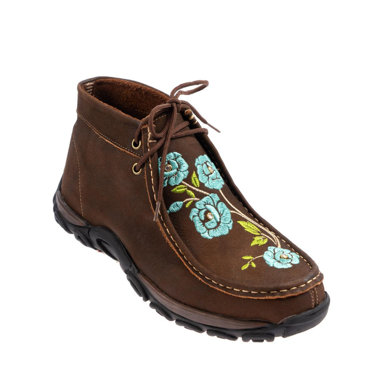 Sapato Destroyer Garrutti Flores Azuis