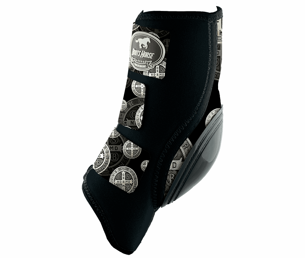 Skid Boot Boots Horse Estampa (Velcro)