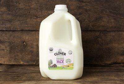 Thumb 400 clover organic fat free milk gal