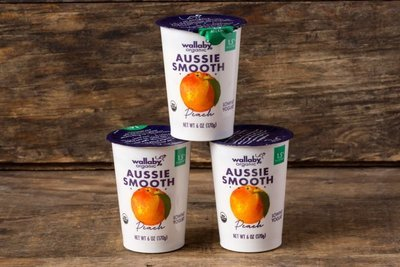 Thumb 400 wallaby organic whole milk yogurt peach 3 pack 6 oz