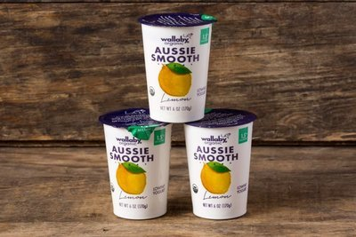 Thumb 400 wallaby organic whole milk yogurt lemon 3 pack 6 oz