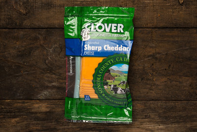 Thumb 400 clover sharp cheddar sliced 8 oz