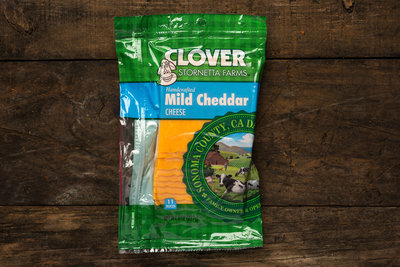 Thumb 400 clover mild cheddar sliced 8 oz