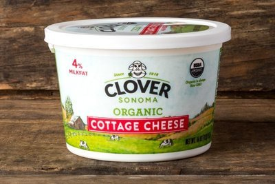 Thumb 400 clover organic cottage cheese small curd pint