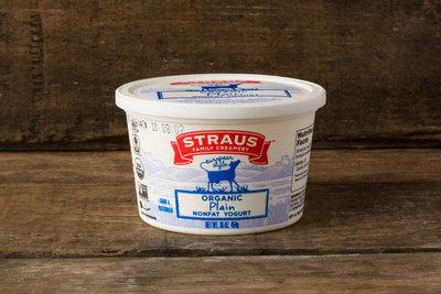 Thumb 400 straus creamery organic plain nonfat yogurt 16 oz