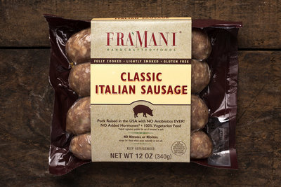 Thumb 400 fra mani classic italian sausage fully cooked 12 oz