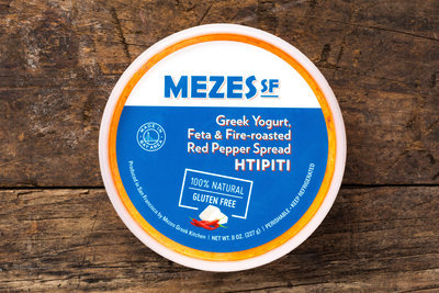 Thumb 400 mezes sf fire roasted red pepper feta cheese spread 8 oz