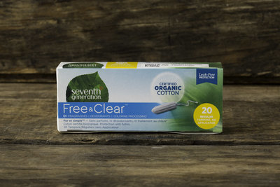 Thumb 400 seventh generation free clear regular tampons no applicator 20 tampons