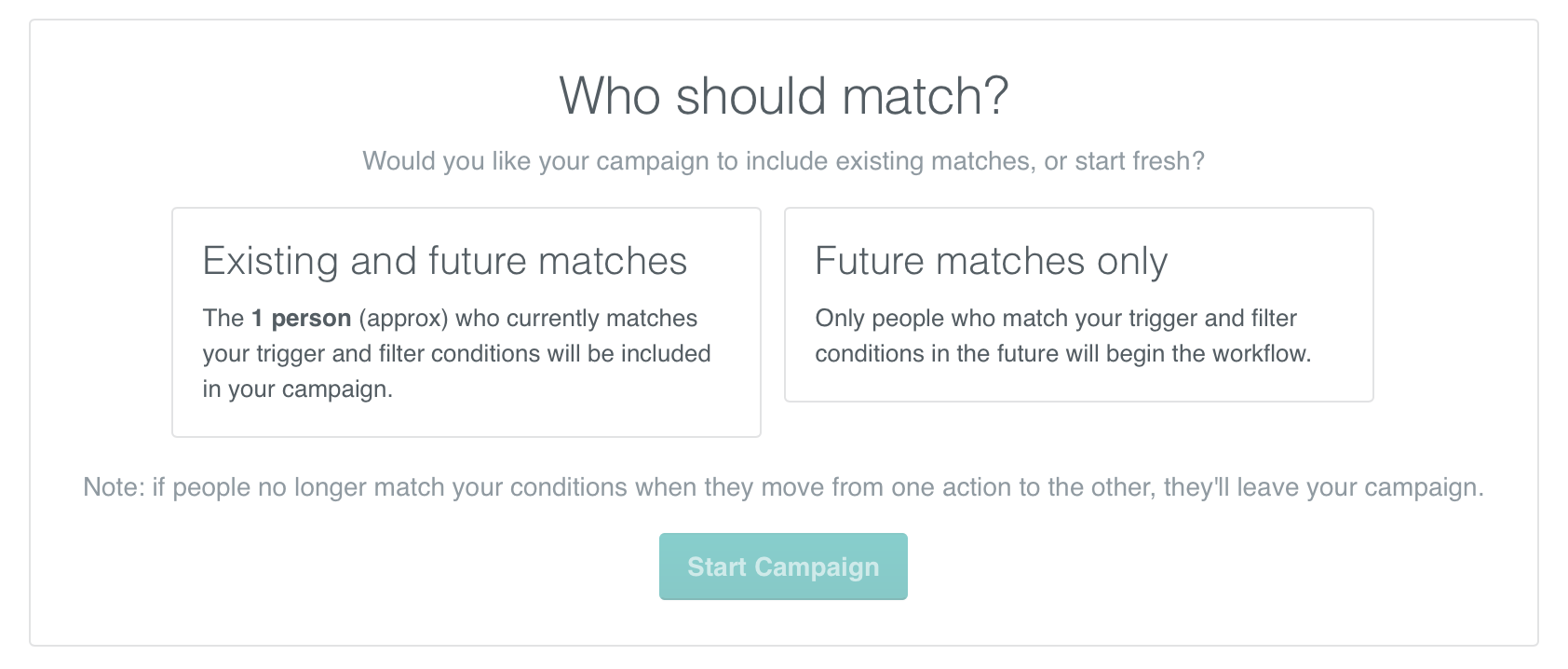 Include existing and future matches