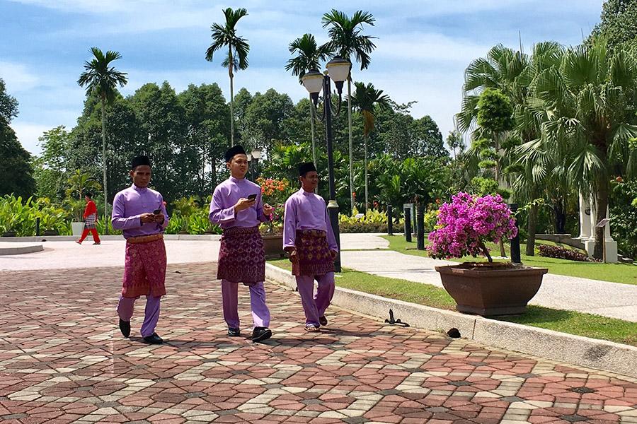 Garden at prime minister's house.