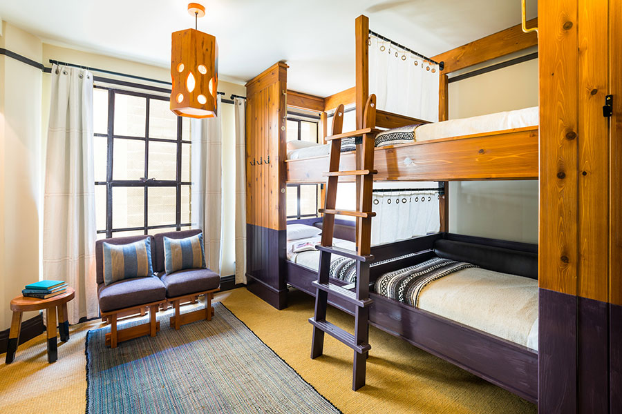 Shared bunk room.
