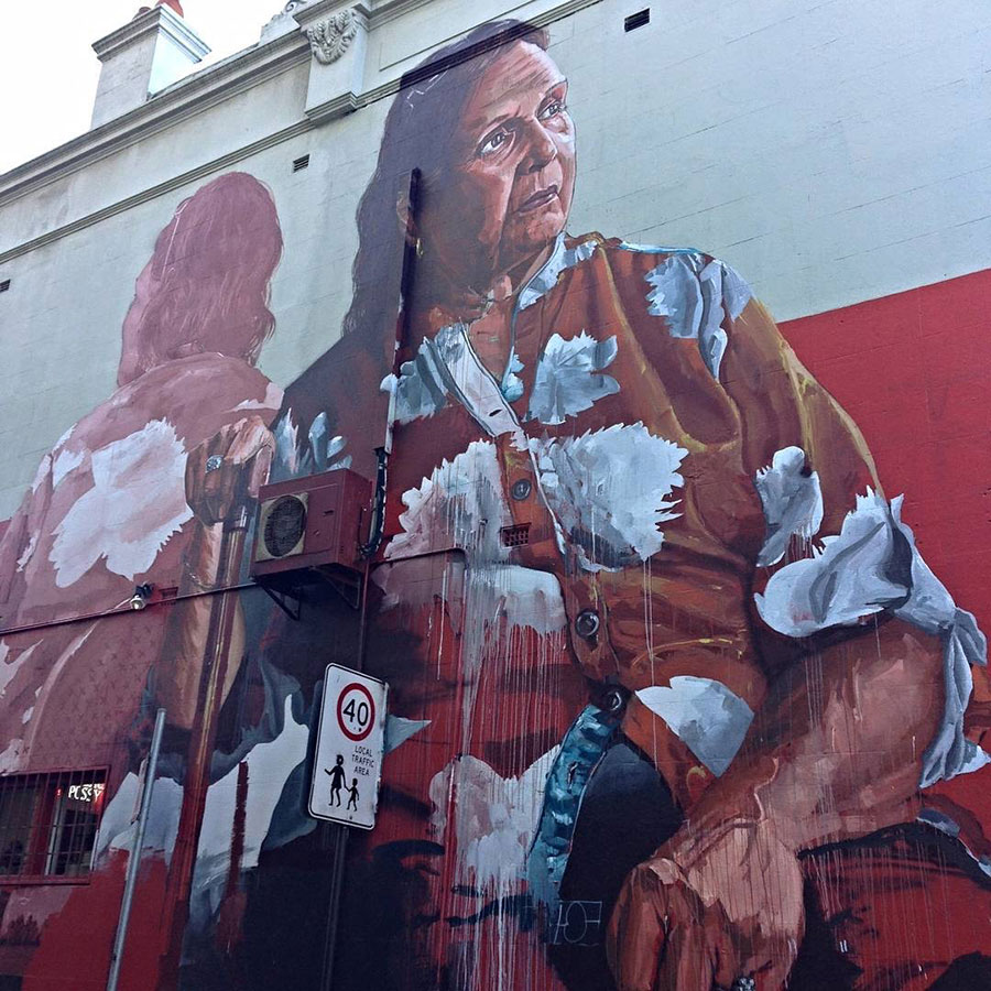A Street Art Painting by Fintan Magee in Sydney.