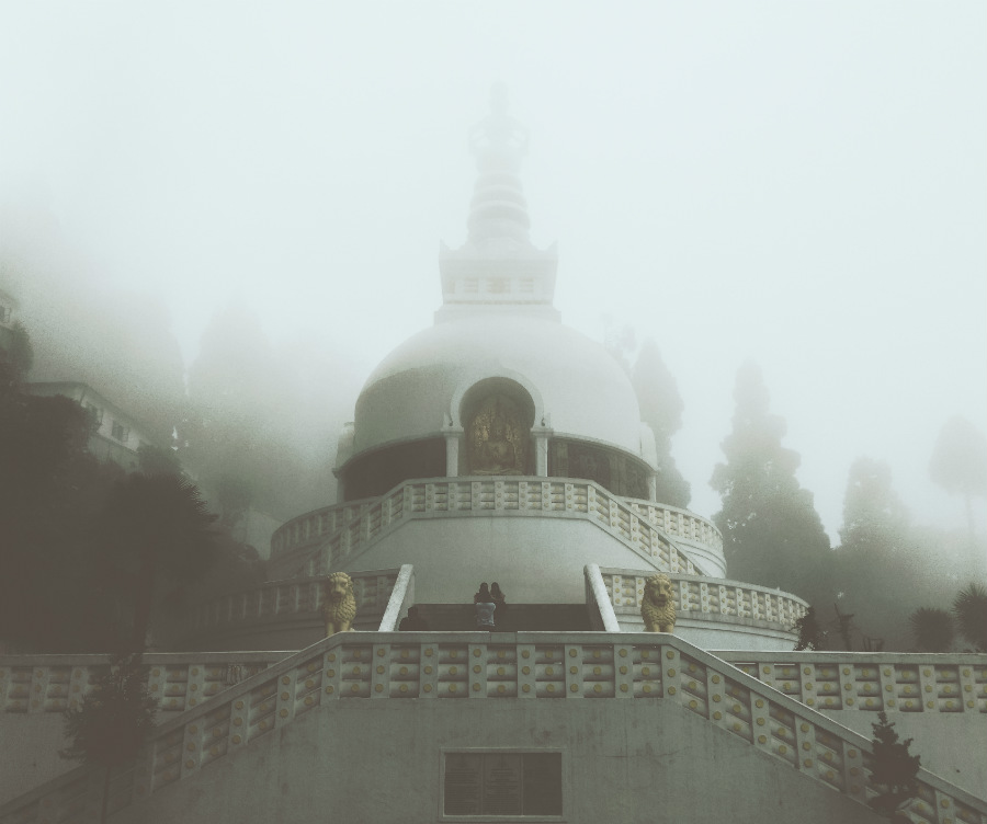 Japanese Temple at Darjeeling.
