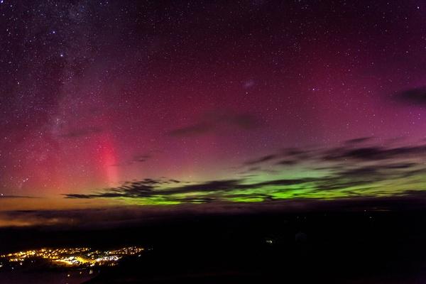 The Aurora Australis as seen from Mt. John Observatory in Lake Tekapo.