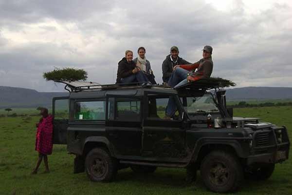 The author on Safari.