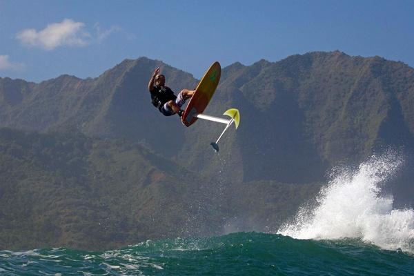 Laird Hamilton in the air.