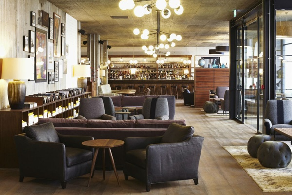 The lobby of The Hoxton Holborn.