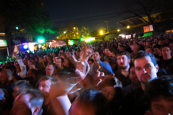 Crazy crowds at SXSW in Austin, Texas.