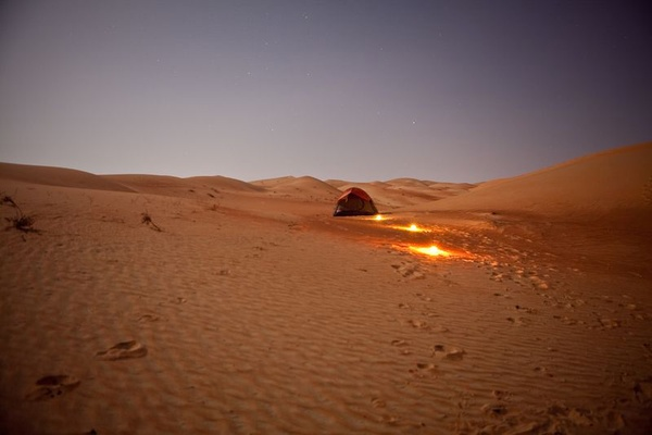 A Grain of Sand in the Empty Quarter