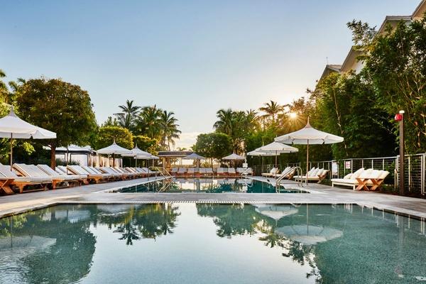 The pool at Nautilus South Beach.