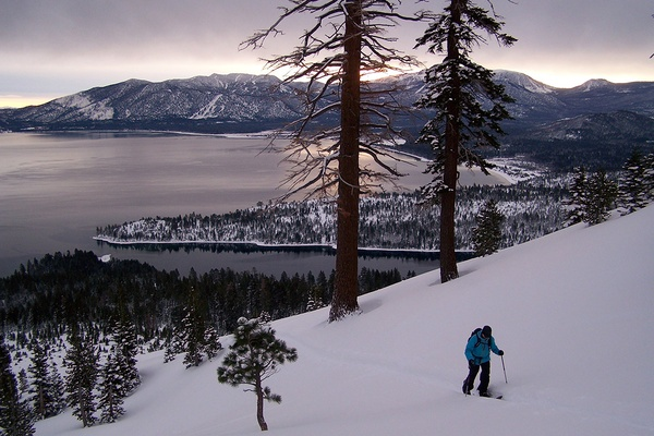 Snowshoeing in North Lake Tahoe.