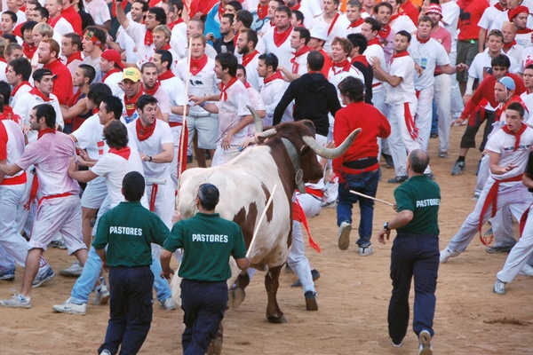 Now in Spain: Running of the Bulls