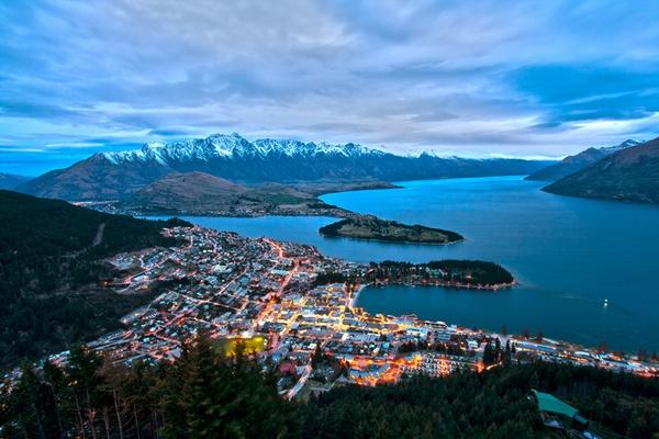In-Between Bungee Jumps in Queenstown, New Zealand