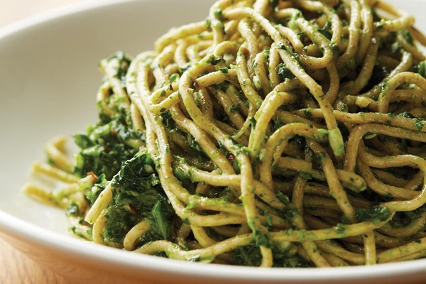Whole Wheat Pasta with Broccoli Rabe Pesto from Downtown Italian