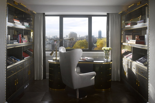 A study room in the Royal Suite, Intercontinental London Park Lane