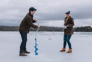 Ice Fishing As a Boozy NYC Weekend Alternative