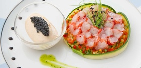 Cook Like a Venetian: A Recipe for Red Shrimp Carpaccio With Ginger Gelato