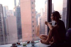 Morning moments above Hong Kong.