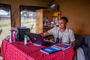 Angel Vendeline Namshali at Dunia Camp
