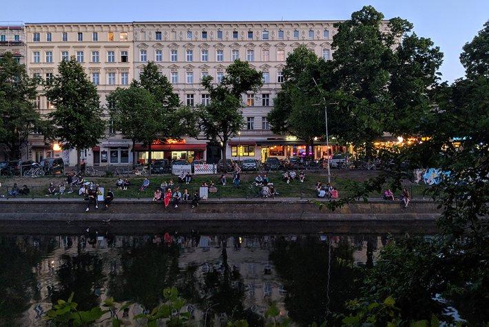 An evening in Kreuzberg, Berlin, Germany