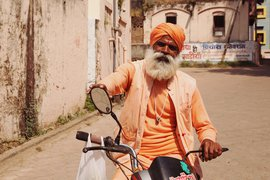 A cool character in Maheshwar, India.