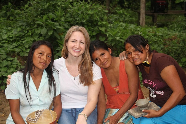 Rahua co-founder Anna Ayers and the women she works with