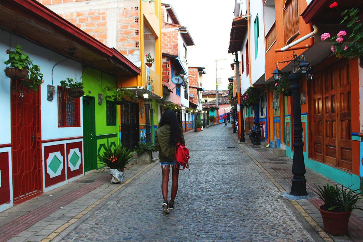Pueblo de Zocalos in Gutape near Medellin, Colombia