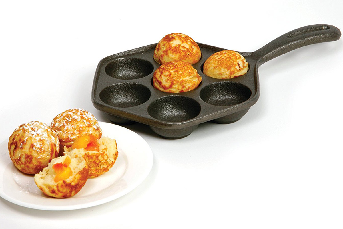 Cast Iron Danish Aebleskiver Pan