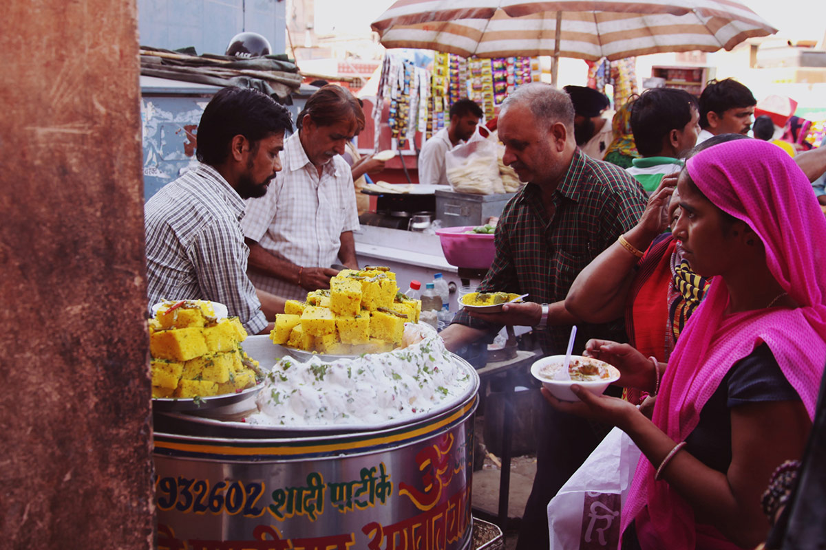 Street food in Jaipur, India