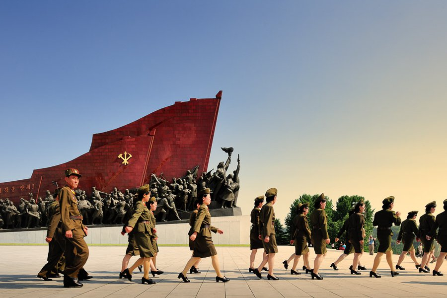 Military at Mansudae Grand Monument