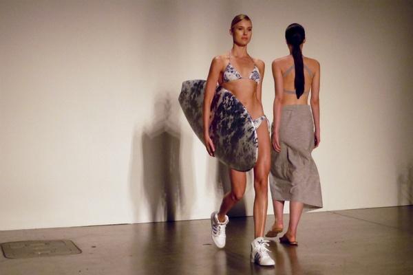 Hawaii Fashion Week surfboard model