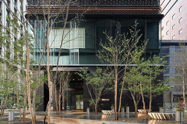 The exterior of Hoshinoya Tokyo