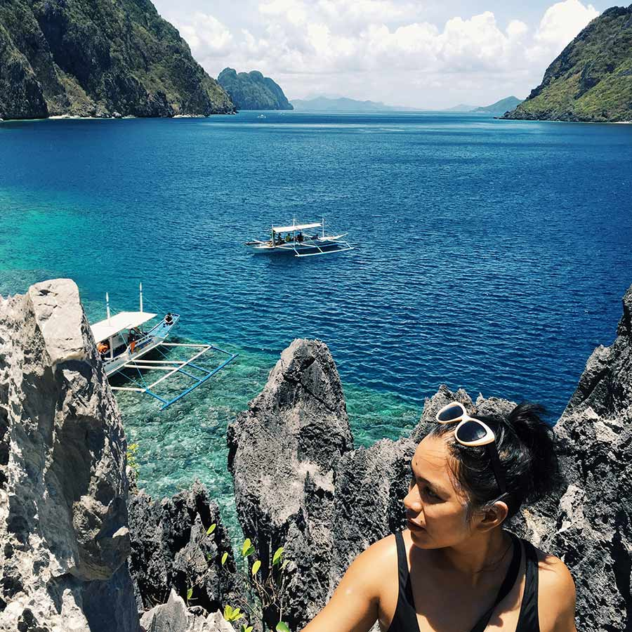 Isadora Alvarez on El Nido, Palawan in the Philippines