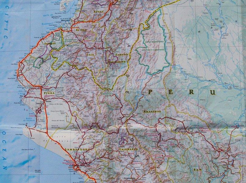 Peru Route Map